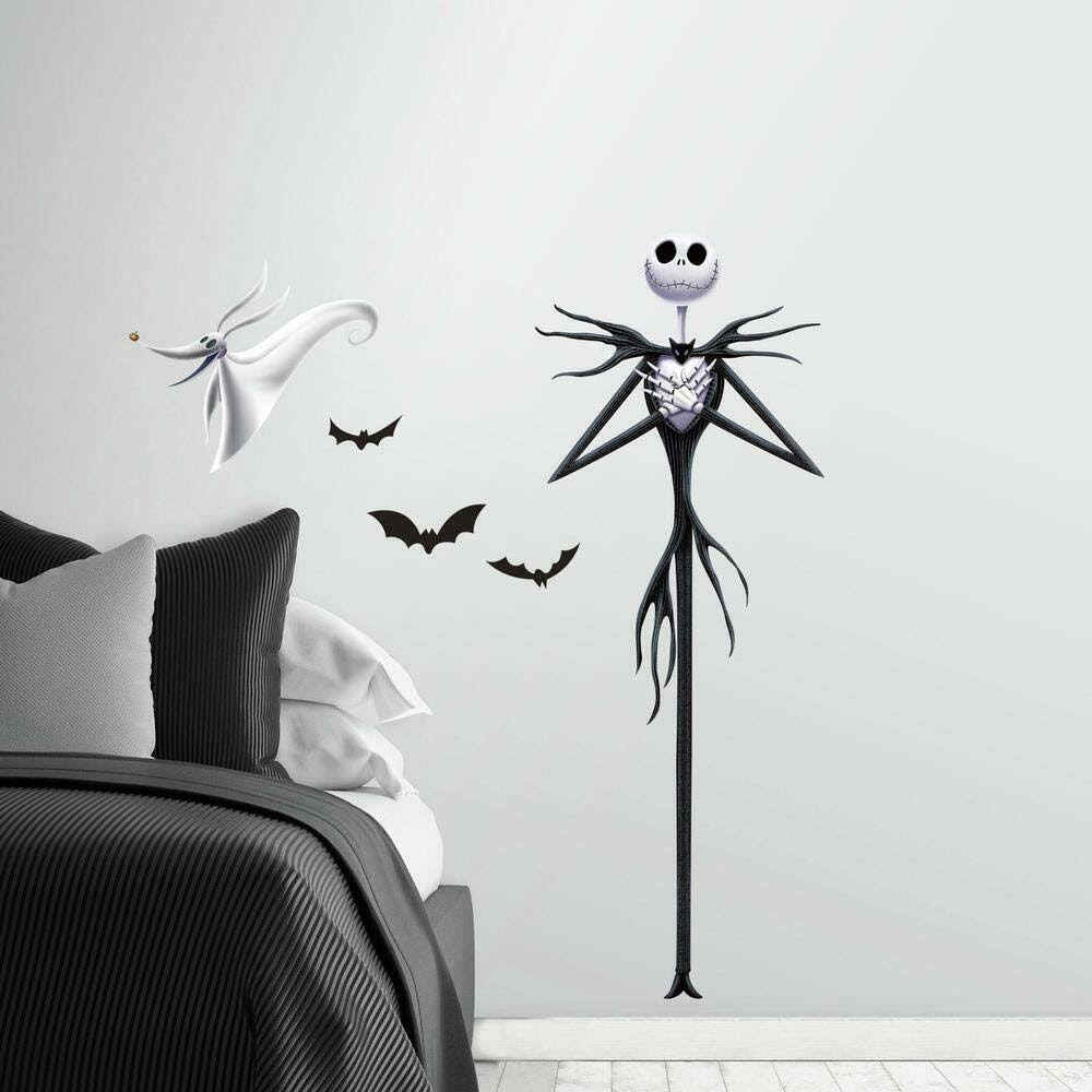 Roommates The Nightmare Before Christmas Jack Peel And Stick Giant Wall Decals Google Shoppi In 2020 Christmas Wall Decal Nightmare Before Christmas Before Christmas