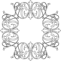 swirls frame romantic border coloring page other printable coloring pages for adults