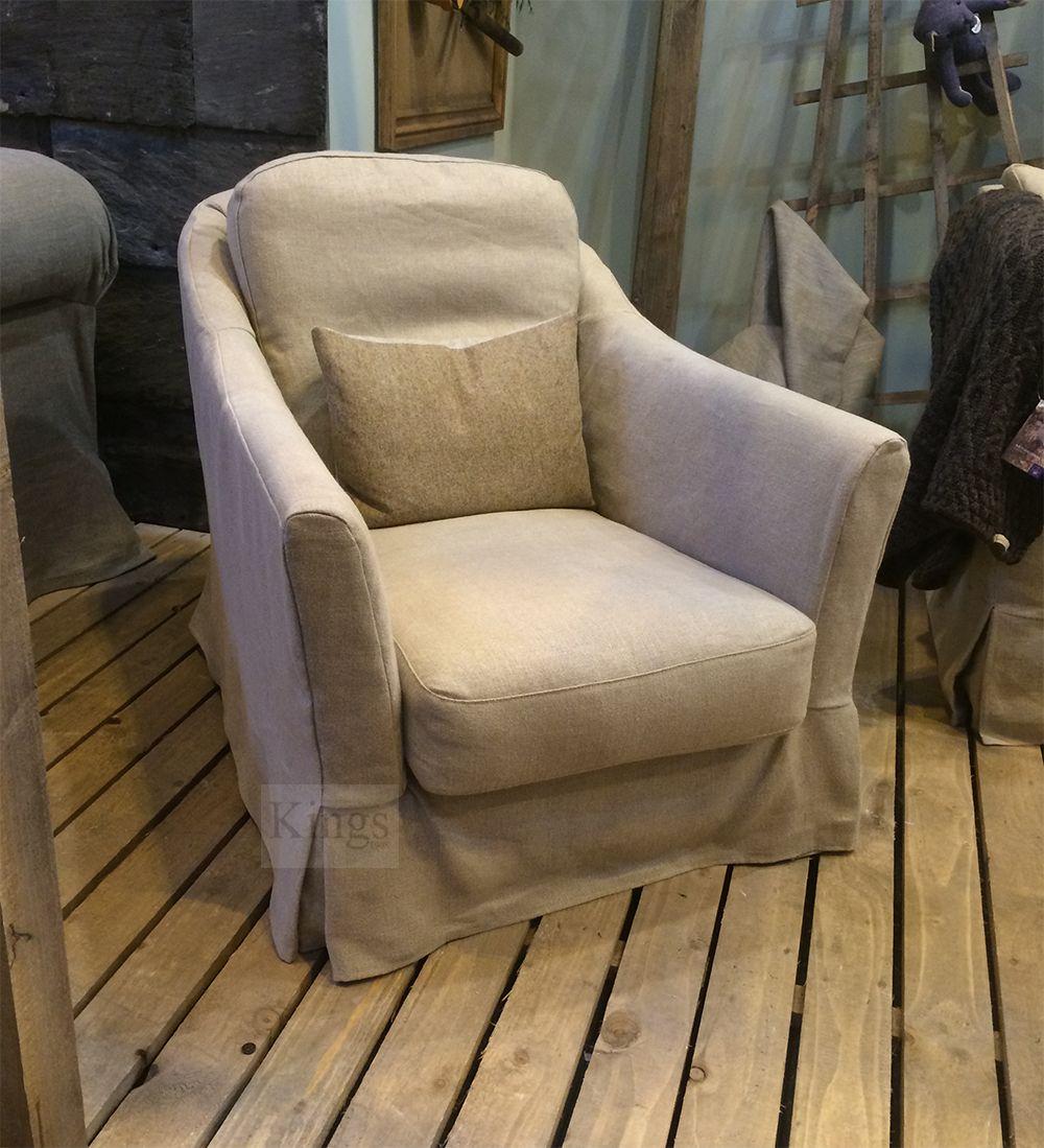 #Tetrad #Upholstery Finley chair in natural linen http://www.kingsinteriors