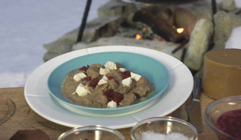 Hunter Stew With Goat Cheese And Lingonberries New Scandinavian Cooking Lingonberry Recipes Hunters Stew Food