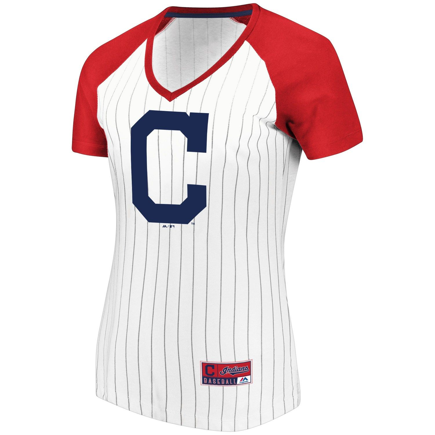 Women s Majestic Cleveland Indians Jersey Tee  bd45f03a8