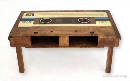 Deco Retro Tayble La Table Basse Cassette Audio Cassette Audio Deco Retro Table Basse