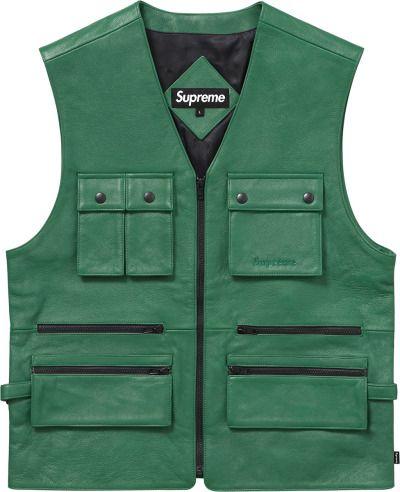a0cf7f29 Pin by Tyler Hardin on Supreme New York | Leather vest, Utility vest, Vest