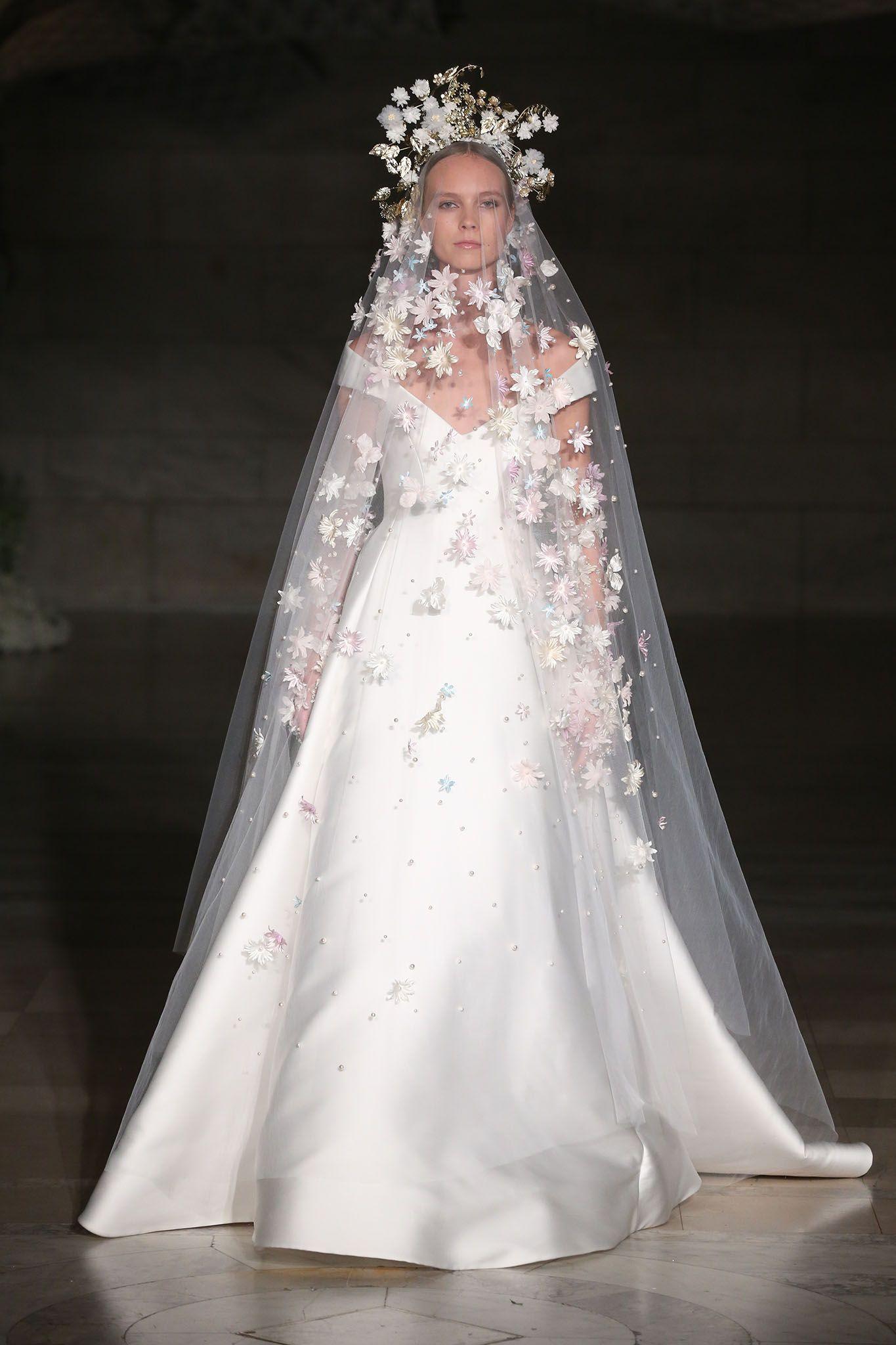 bae6f54f338c Reem Acra Bridal Fall 2019 | Wedding Inspiration: Femme Styles ...