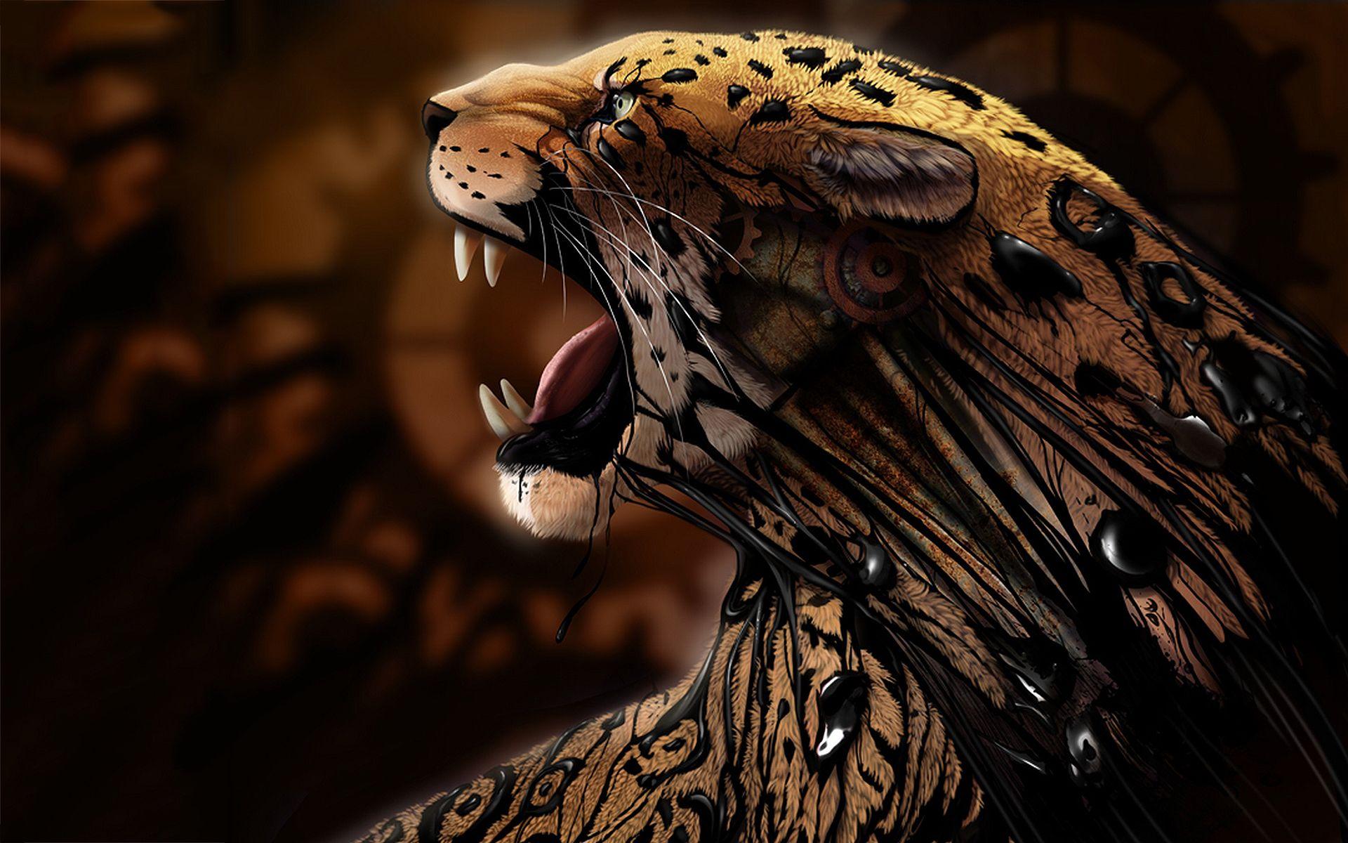 Animals Jaguars Wallpapers Hd Desktop And Mobile: Jaguar Artwork Wallpapers