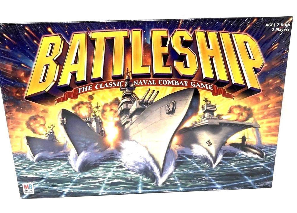 Milton Bradley 2002 Battleship Classic Naval Combat Board