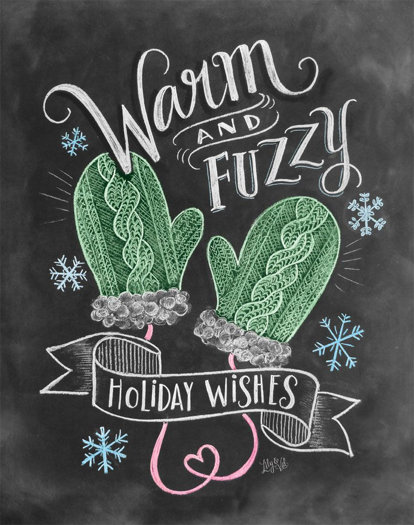 Boxed set of warm u fuzzy holiday wishes cards by lilyandval