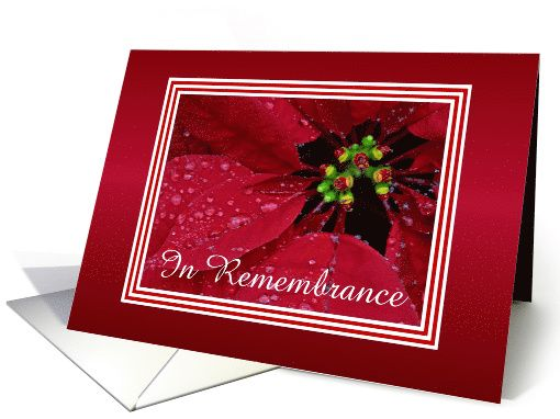 Remembrance-Christmas-Poinsettia-Custom Card. Thank you customer in Pennsylvania!