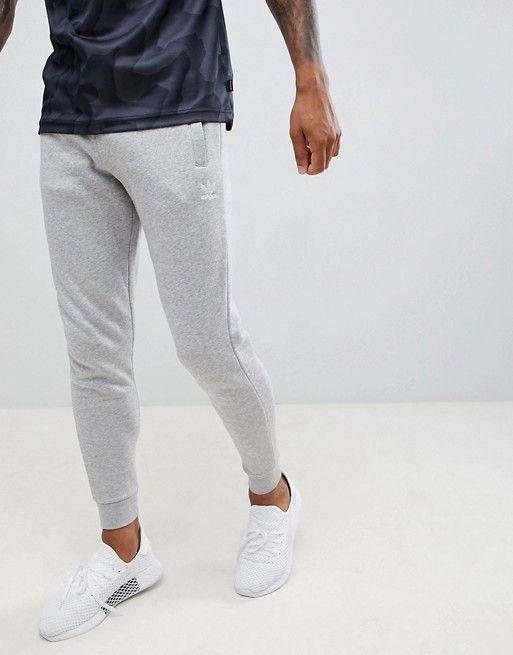 adidas Originals Jersey Joggers In Grey DN6010   ASOS