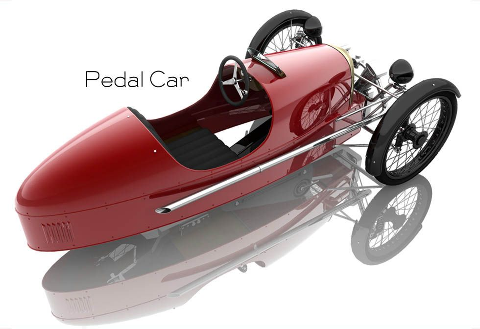 Morgan Motor Company Pedal Car. This was just featured on \