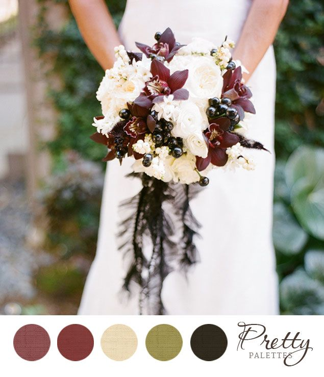 Winter Wedding Colors Photo Source Esther Sun Photography