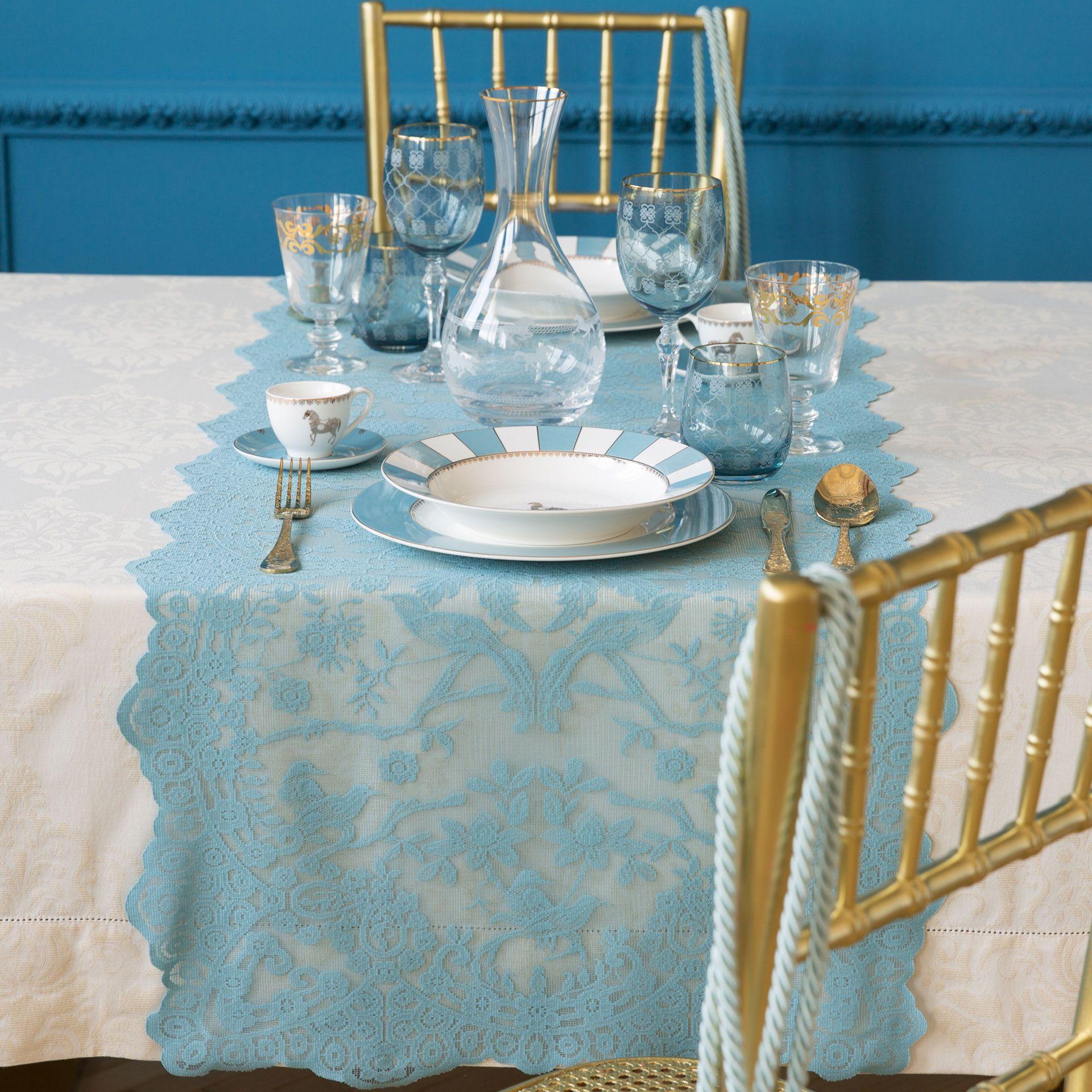 Zara home to open in toronto - Dark Blue Crochet Table Runner Table Runners Tableware Zara Home T Rkiye Turkey