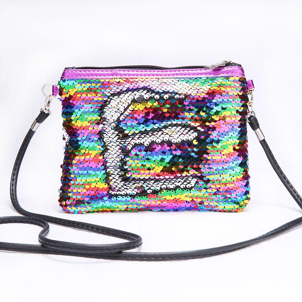 13795ddd9d4 Children Mini Clutch Bag Sequins Color Change Coin Purse Handbags ...