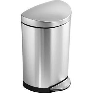 Simplehuman 10 Liter Fingerprint Proof Brushed Stainless Steel Semi Round Step Trash Can Cw1833 Simplehuman Trash Can Kitchen Trash Cans