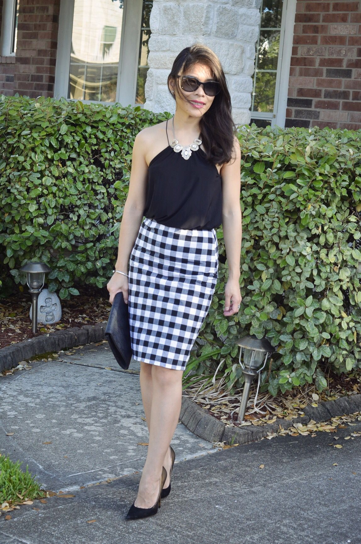 bca1c455c6 Pin by Jingle Alcazaren on Ynsemble | Gingham skirt, How to wear, Skirts