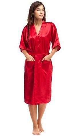 Large Size Sexy Satin Night Robe