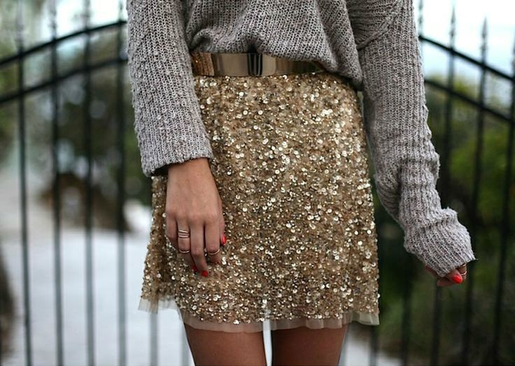 Gold and sparkly!