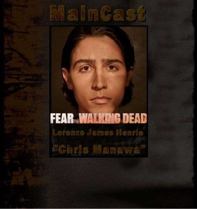"FEAR The Walking Dead - Lorenzo James Henrie ""Chris Manawa"""
