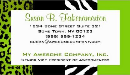 Lime green black animal print zebra and leopard business cards lime green black animal print zebra and leopard business cards httpwww colourmoves