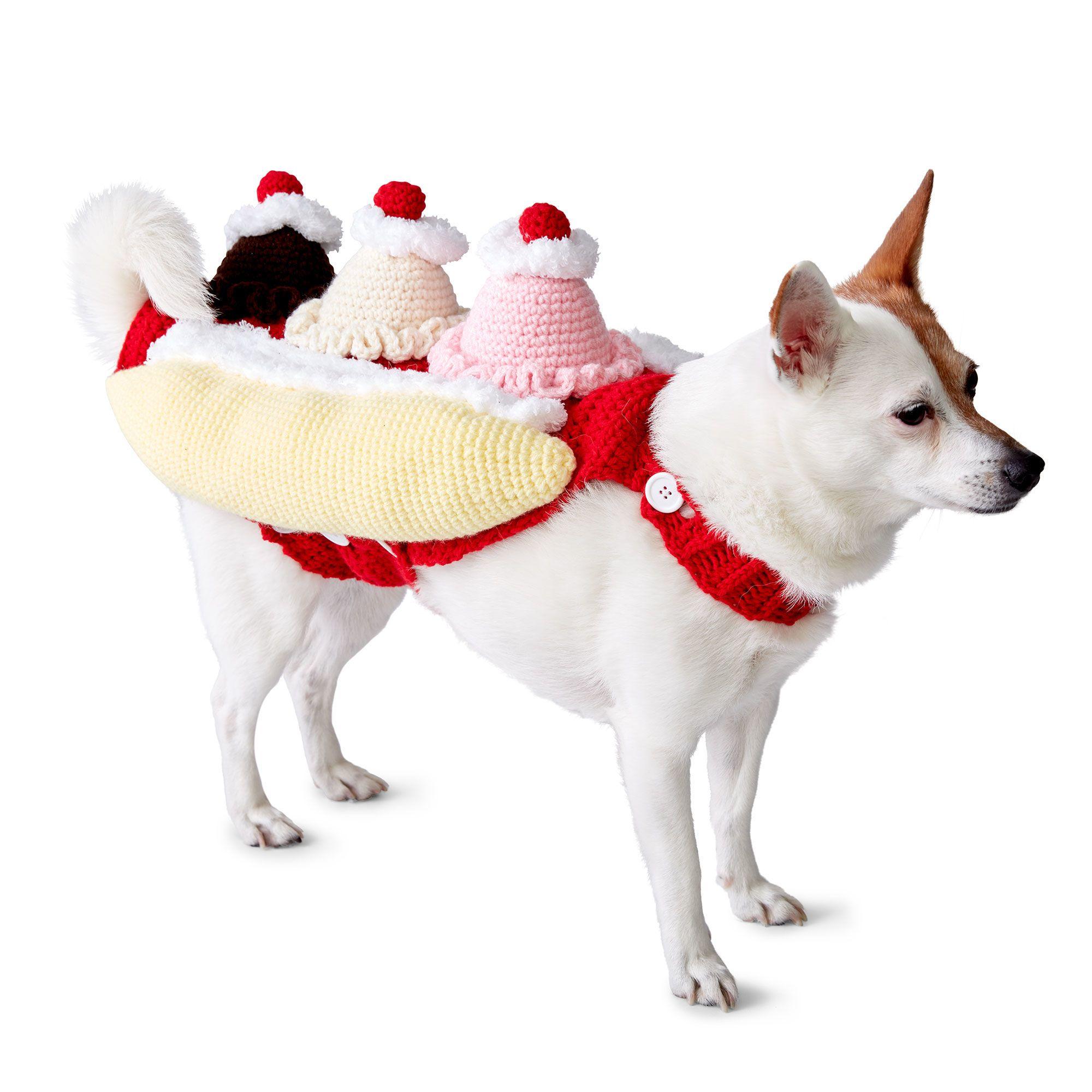 Bernat That's Bananas! Crochet Dog Coat, S Pattern