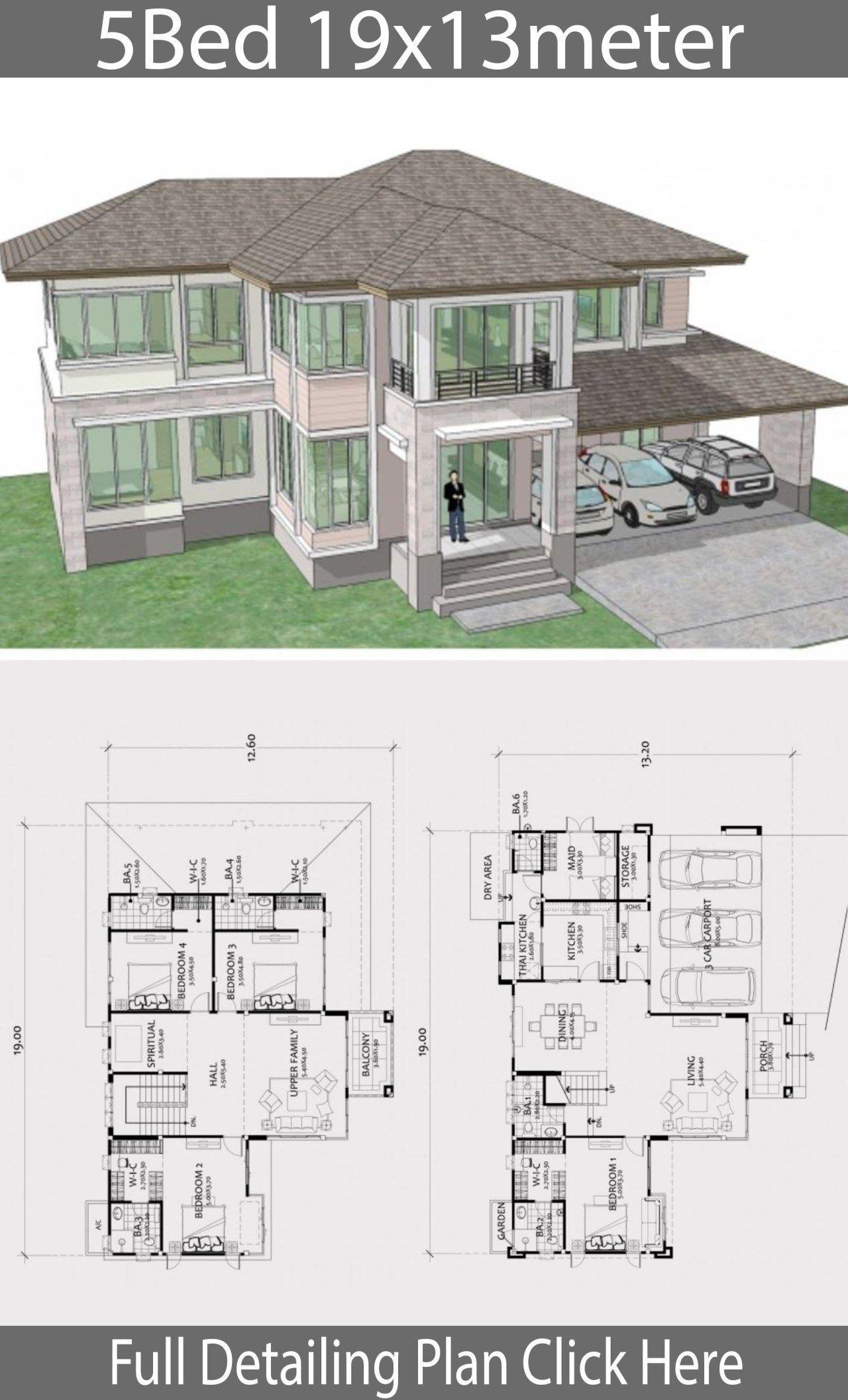 20 Big Modern House Floor Plans Plataran Best Denah Desain Rumah Tata Letak Rumah House Blueprints