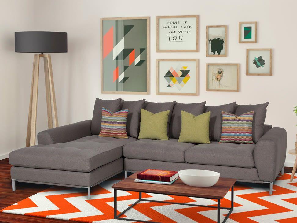 San marino sala modular izquierda trendy gris liverpool for Sofa modular gris