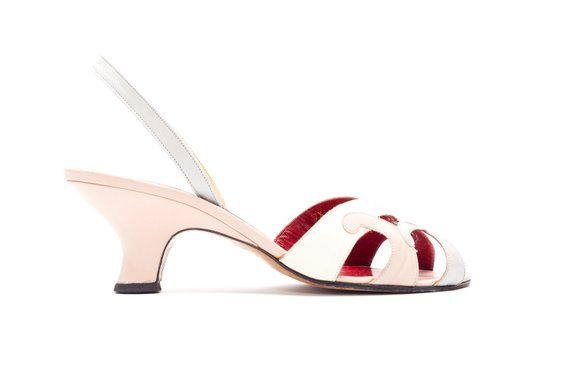 eac2b1e063b Yves Saint Laurent Vintage Sandals • YSL Vintage • Slingback Sandals in  Pink