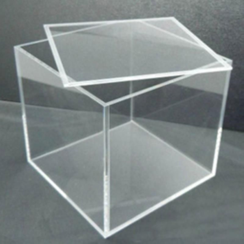 """Handcrafted Clear Acrylic Display Box 12/"""" x 12/"""" x 8/"""" Display Box 1//4/"""" Thick"""