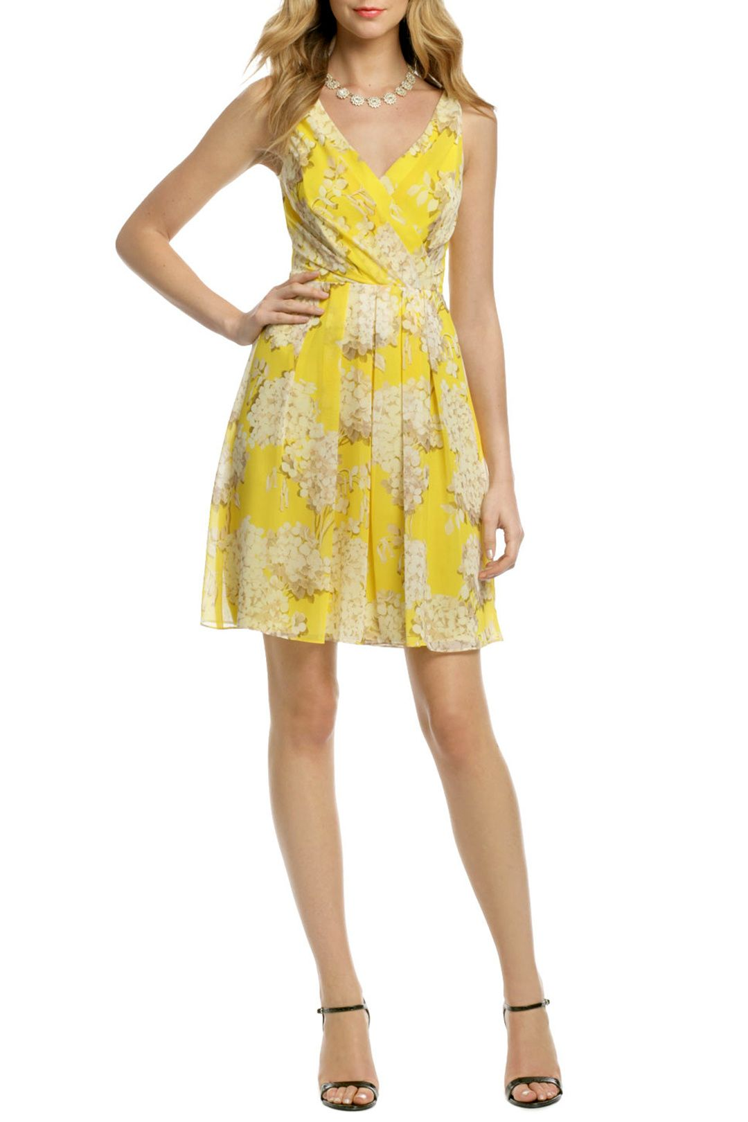 Canary Hydrangea Dress | Trina turk, Hydrangea and Mob dresses