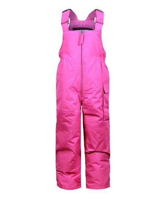 Pink Shock Cargo Bib Overalls - Toddler & Girls