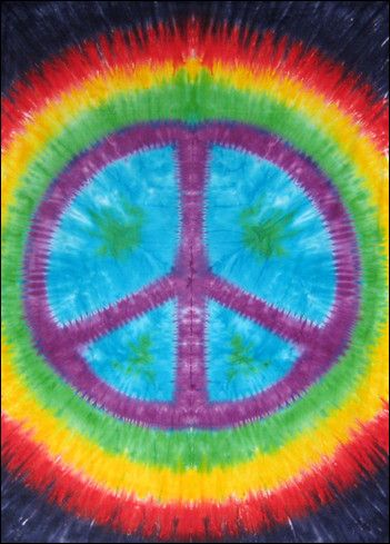 New Tie Dye Tapestry All You Need is Love Peace Sign Wall Hanging ART Decor We