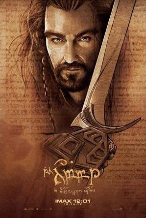O Hobbit: Poster desenhado a mão promovem o filme.