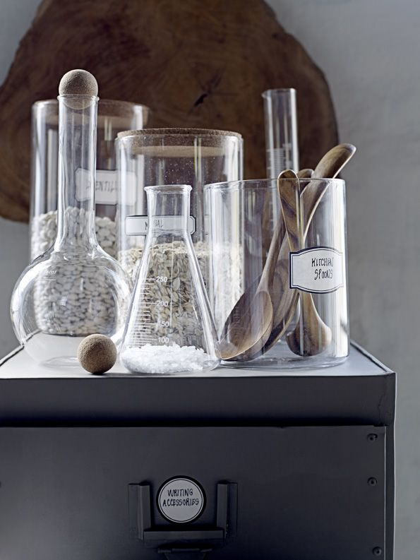 Bloomingville Etched Glass Decanter Clear