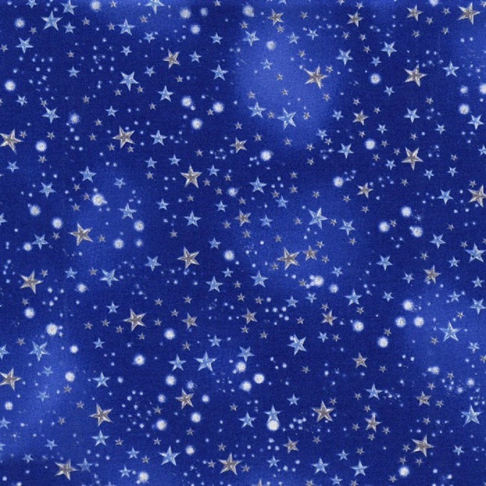 Michael miller night sky stars flower fairies collection for Night sky material
