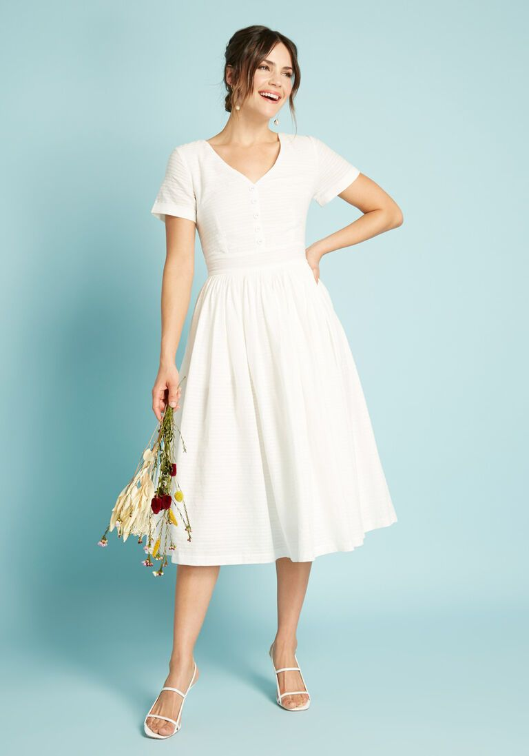 Fabulous Fit And Flare Shirt Dress In 28 Short Sleeve Fit Flare Midi By Modcloth In 2021 Mod Cloth Dresses Flare Shirt Dresses [ 1097 x 768 Pixel ]