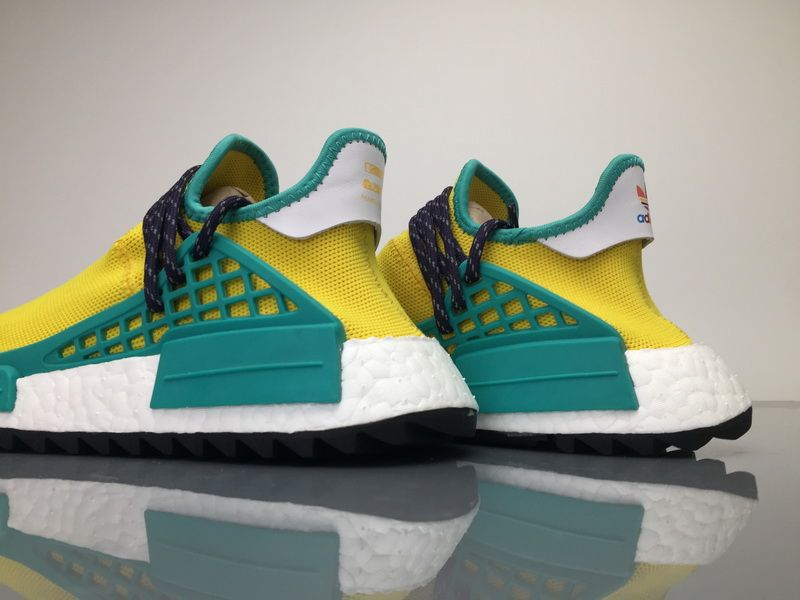 size 40 ecb87 e7399 Adidas NMD Human Race Pharrell Williams Gold Yellow Men Women Sneaker for  Sale07