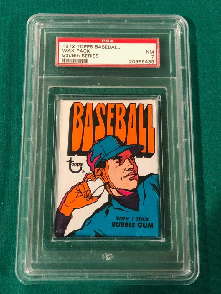 1972 topps unopened wax pack psa 7 nm outstanding