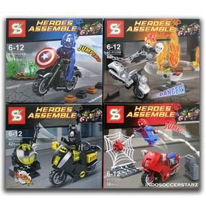 Lego sy 220 ghost rider captain america batman - Spiderman batman lego ...