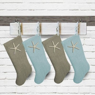 image result for beachy christmas stockings coastal christmas stockings coastal christmas decor nautical christmas - Coastal Christmas Stockings