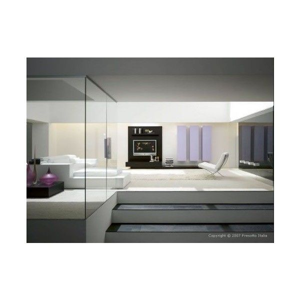 Ultra-modern Living Rooms by Presotto Italia ❤ liked on Polyvore