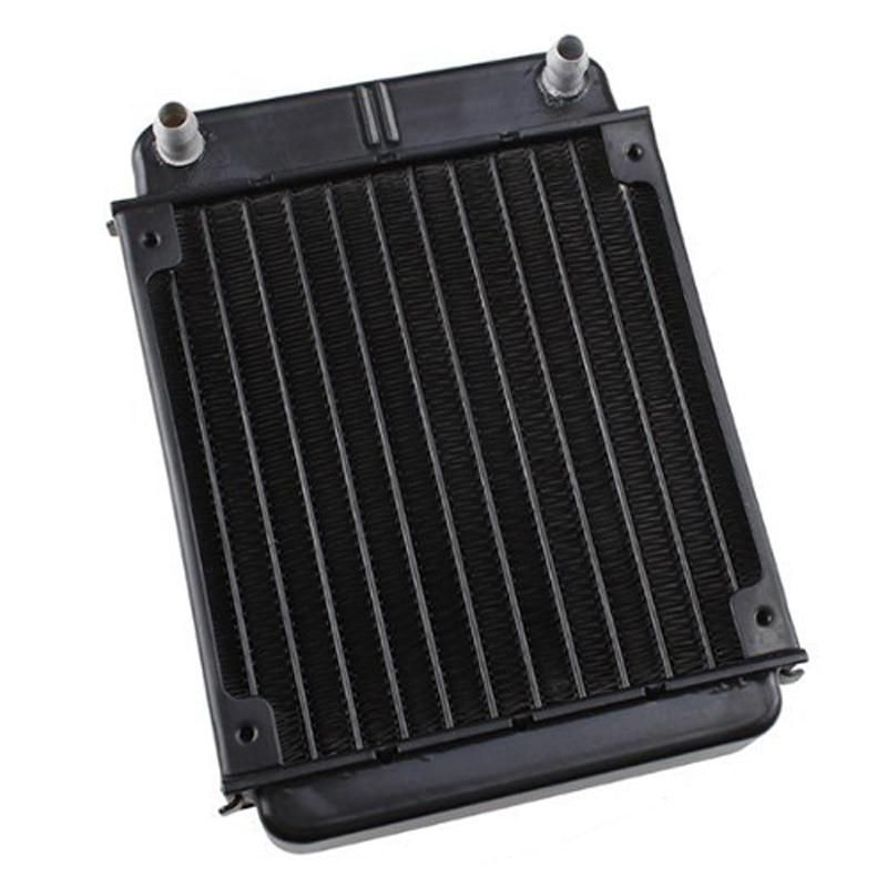 Black Aluminum Heat Exchanger Radiator For Pc Cpu Co2 Laser Water