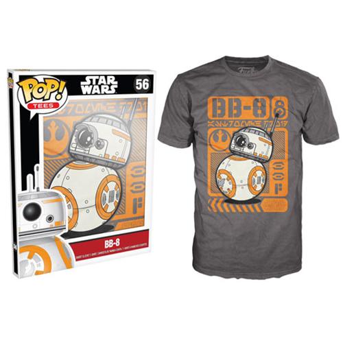 Star Wars Episode Vii The Force Awakens Bb 8 Type Poster Grey Pop T Shirt Star Wars Men Funko Pop Star Wars Pop T