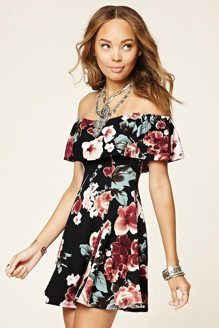 Crinkled Off the Shoulder Dress