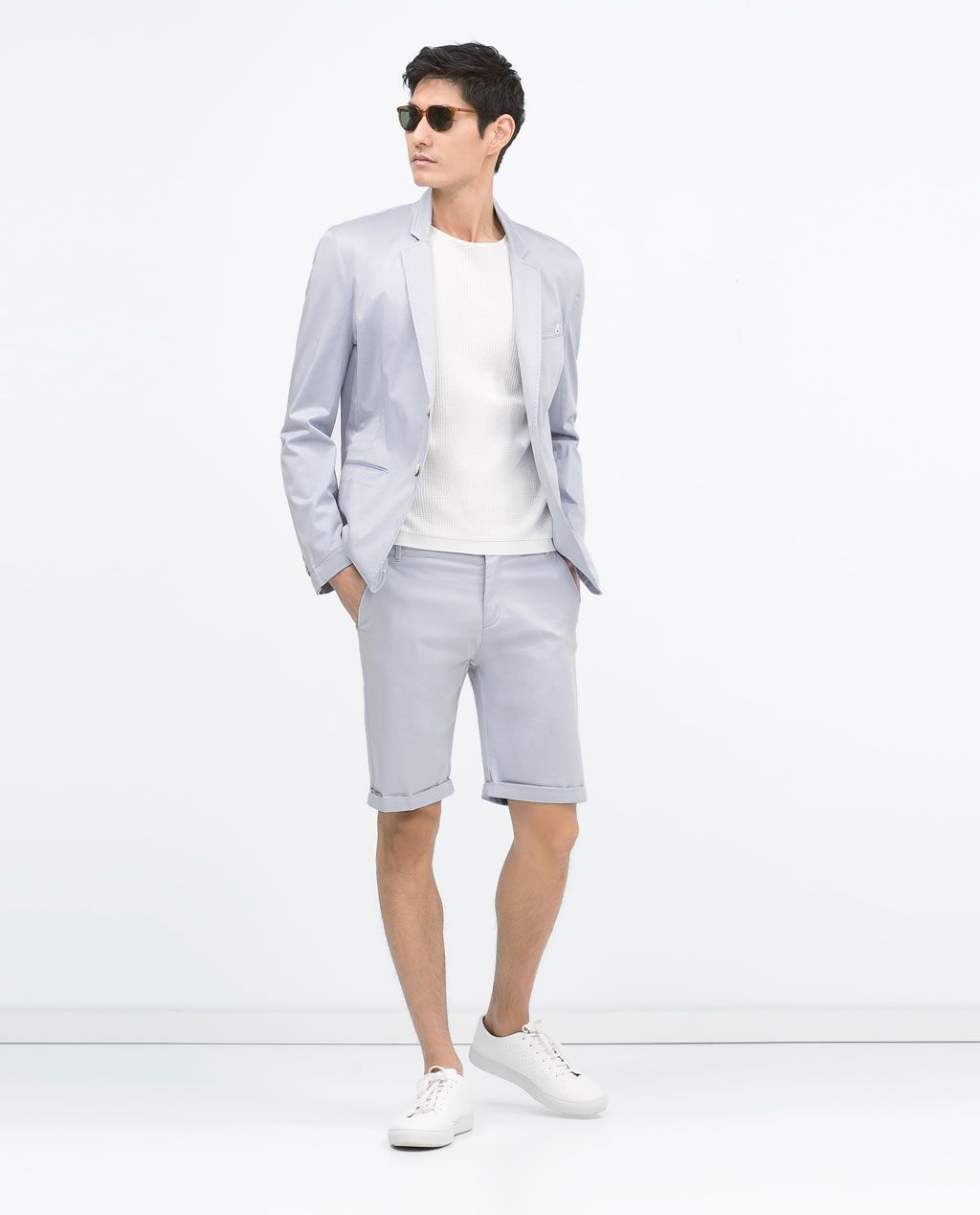 a254d618b1676 Vêtements D été · Satin · SATIN BERMUDA SHORTS from Zara Zara Homme, Veste  Homme, Gilet De Mariage, Costumes