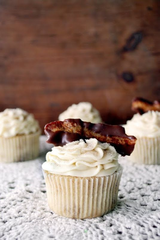 Once Upon My Life: French Toast Cupcakes with Chocolate Dipped Bacon
