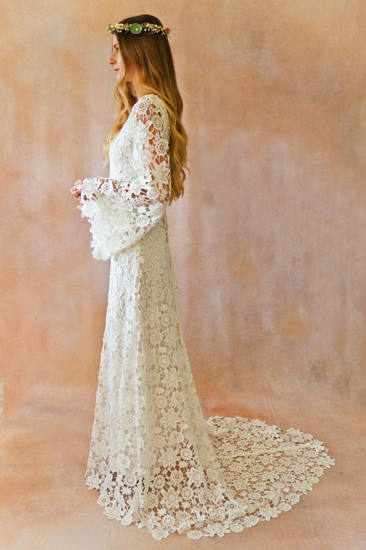 Arabelle crocheted wedding dress in crochet dresses