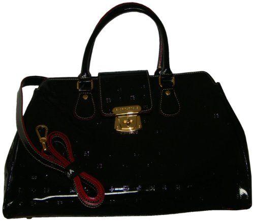 Arcadia Patent Leather Purse Handbag Black