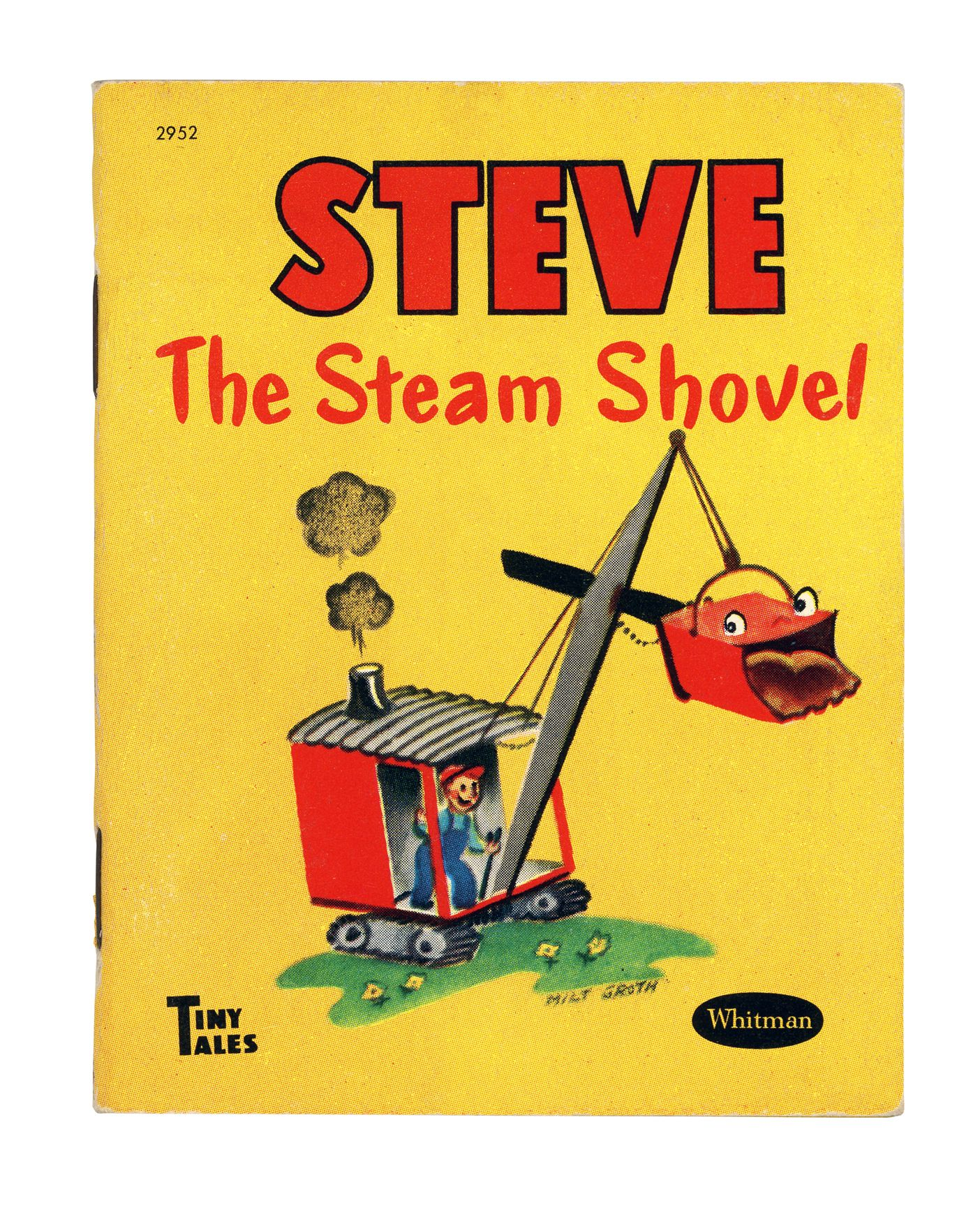 Whitman hot wheels coloring book - Steve The Steam Shovel Vintage Tiny Tales Whitman S Children S Book Series