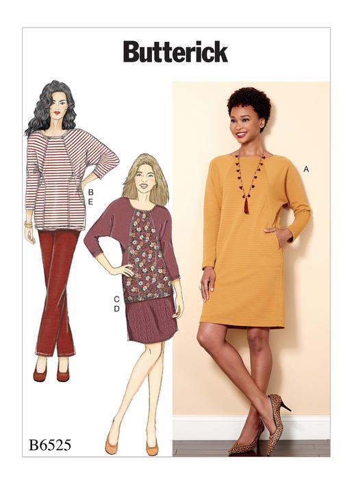 B6525 | Butterick Patterns | Sewing Patterns | Patterns | Pinterest