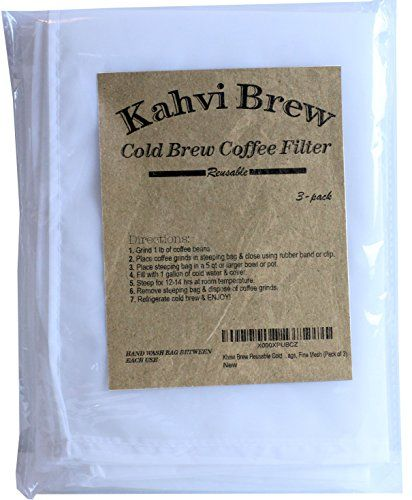 Khavi Brew Reusable Cold Coffee Filter Bags Fine Mesh Pack Of 3